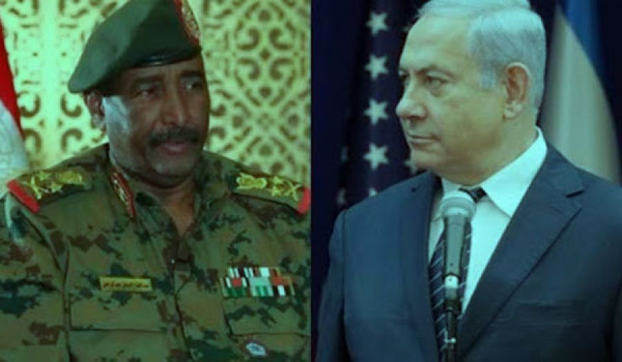 على نهج الخائنين لقضية فلسطين  البرهان يلتقي بنتنياهو