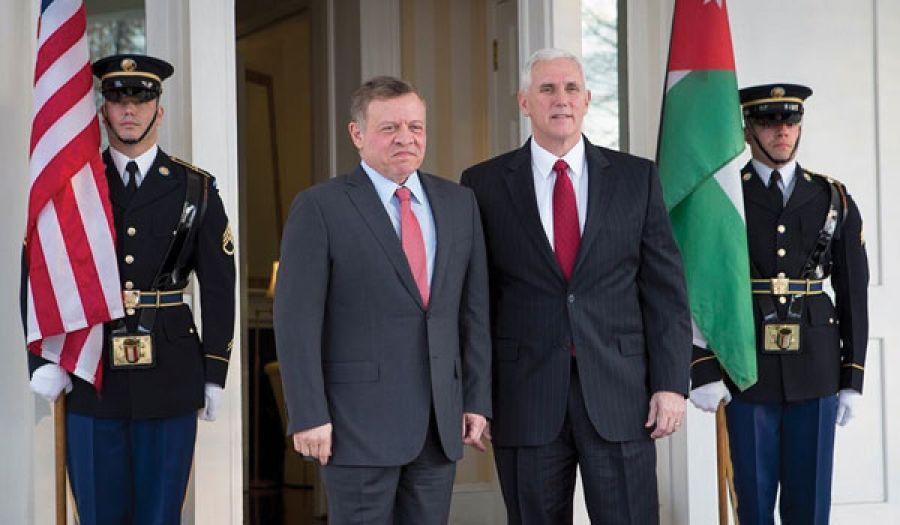 ملك الأردن يبحث مع مسؤولين أمريكيين سبل محاربة الإسلام