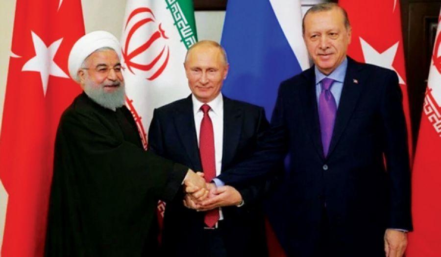 يا أهل الشام لا يخدعنكم الثالوث المجرم (إيران، وروسيا، وتركيا أردوغان)  فإنهم لا يرقبون فيكم إلا ولا ذمة