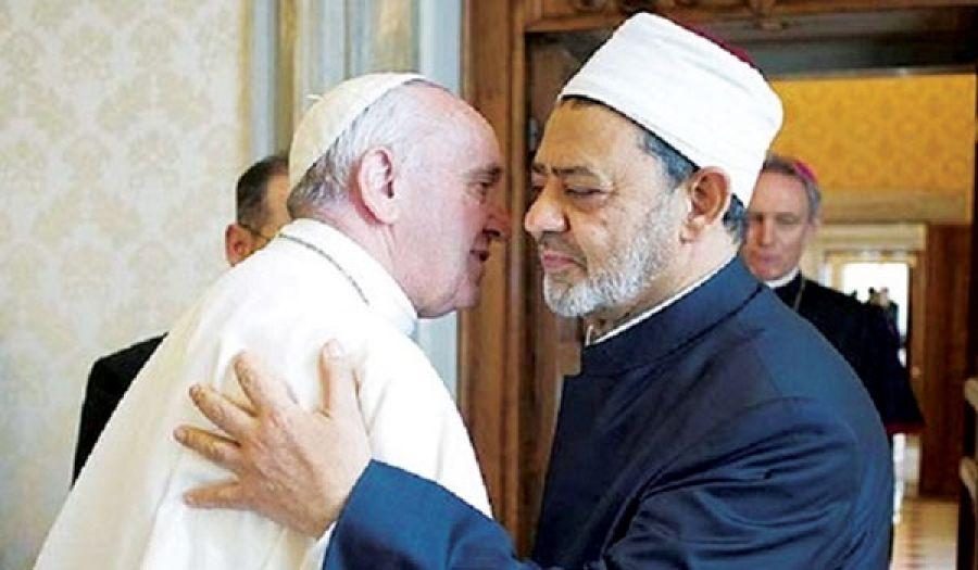 شيخ الأزهر والبابا صنوان في محاربة الإسلام